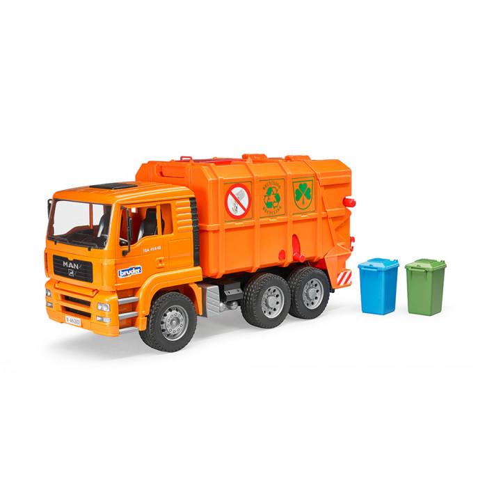 Bruder Popelářské auto MAN-TGA oranžové
