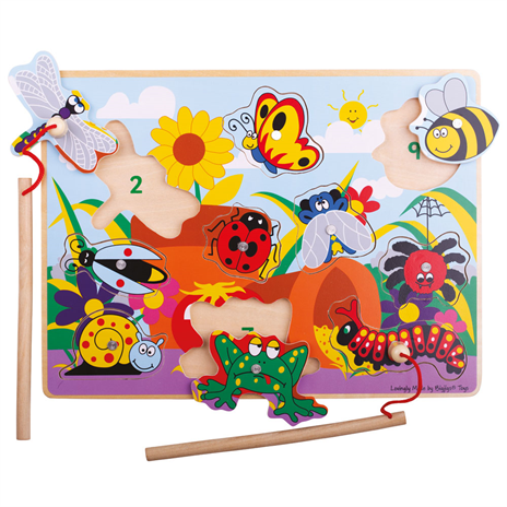 Bigjigs Toys Dřevěné chytání hmyzu