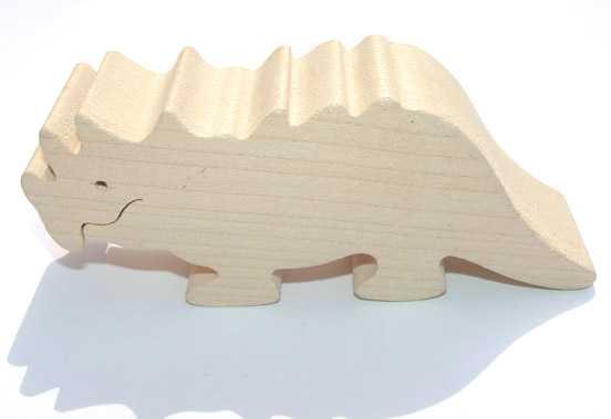 Dřevěná hračka - Triceratops
