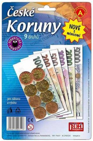 Alexander Hrací peníze české koruny