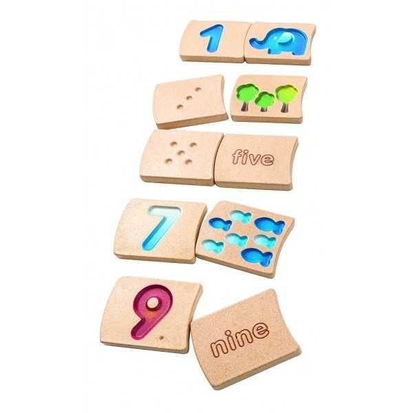 Plantoys didaktická hračka - Čísla 1 - 10 (AJ)