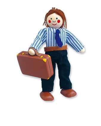 Dřevěné hračky - Panenka do domečku tatínek