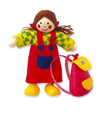 Dřevěné hračky - Panenka do domečku holčička
