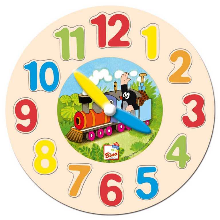 Dřevěné hračky - Dřevěné hodiny - Krtek