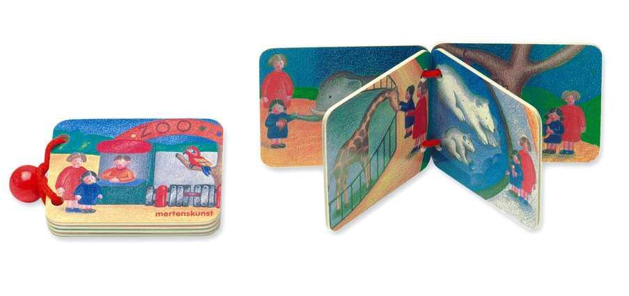 Dřevěné hračky - Dřevěná knížka - ZOO