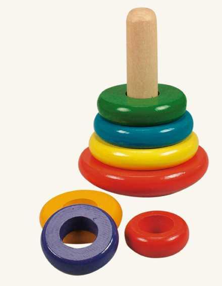 Bino Skládací pyramida barevná