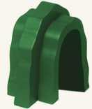 Dřevěné hračky - Příslušenství k dráze - tunel - zelený