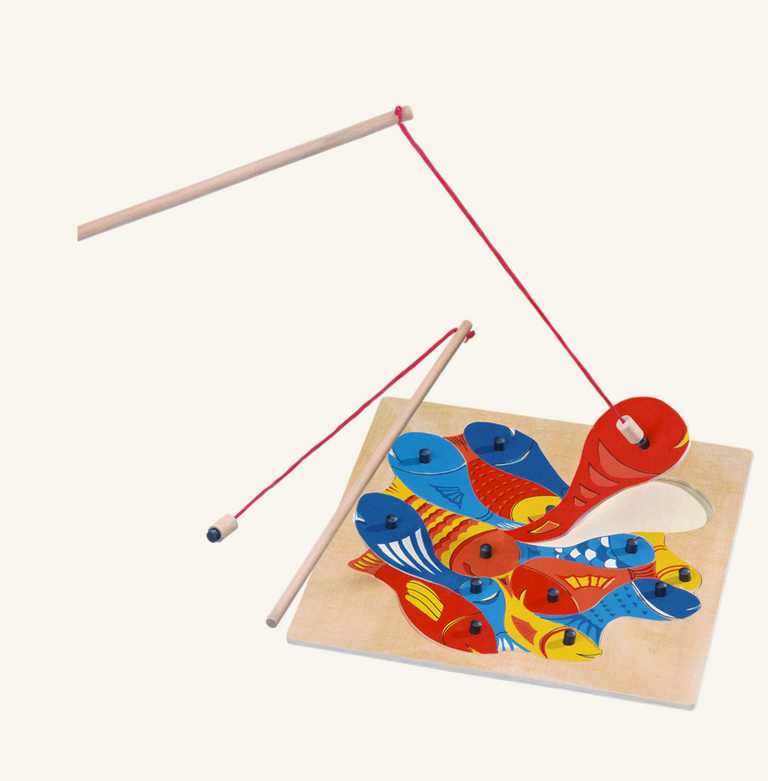 Bino Magnetická hra puzzle rybičky s udičkou