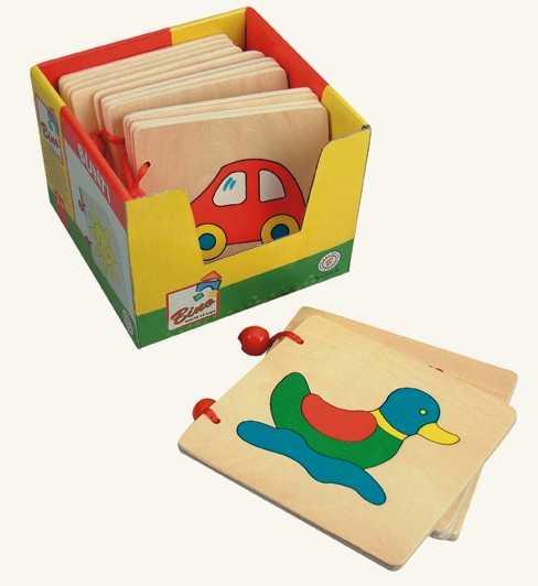 Dřevěné hračky - Dřevěná knížka 1ks