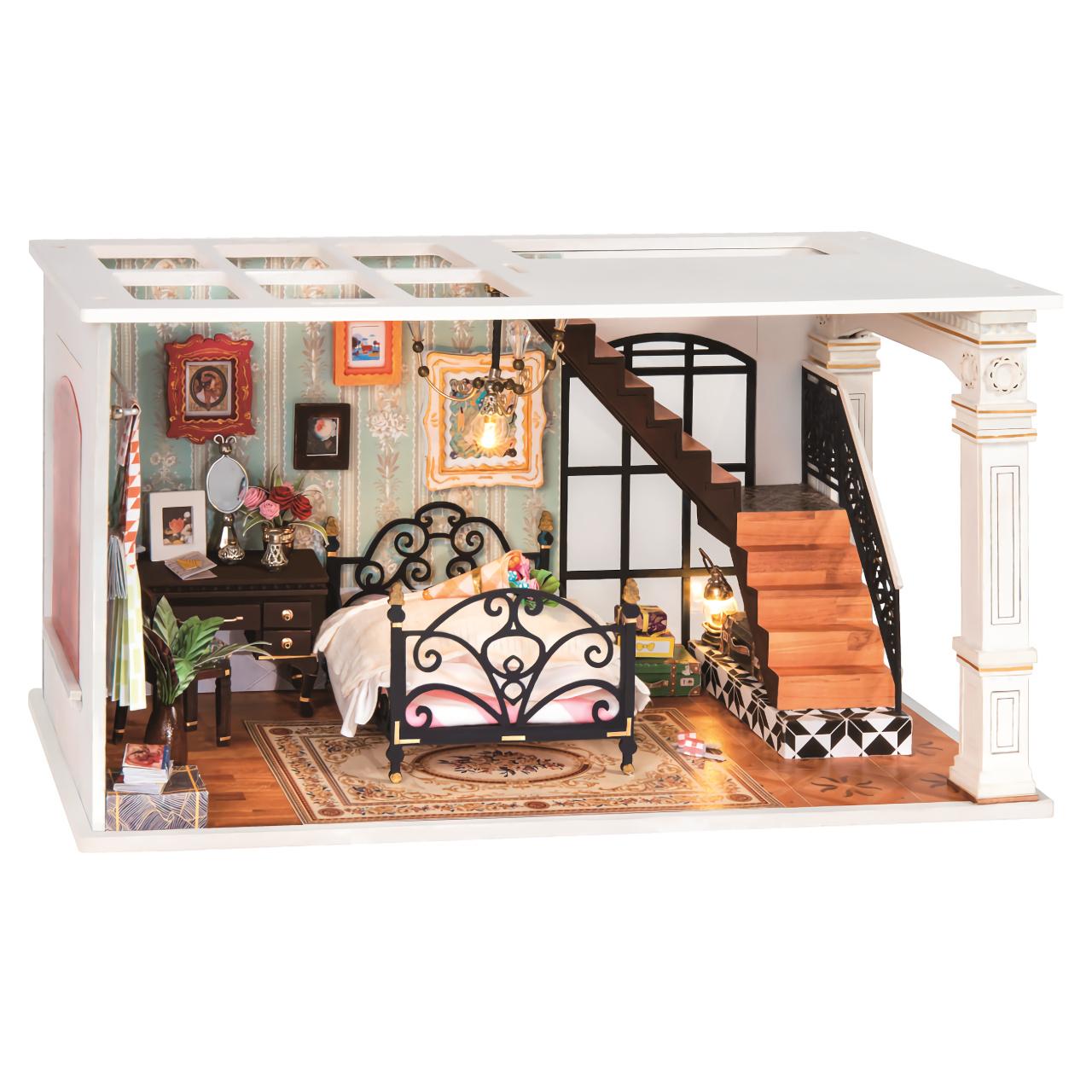RoboTime miniatura domečku Podkrovní starožitná ložnice