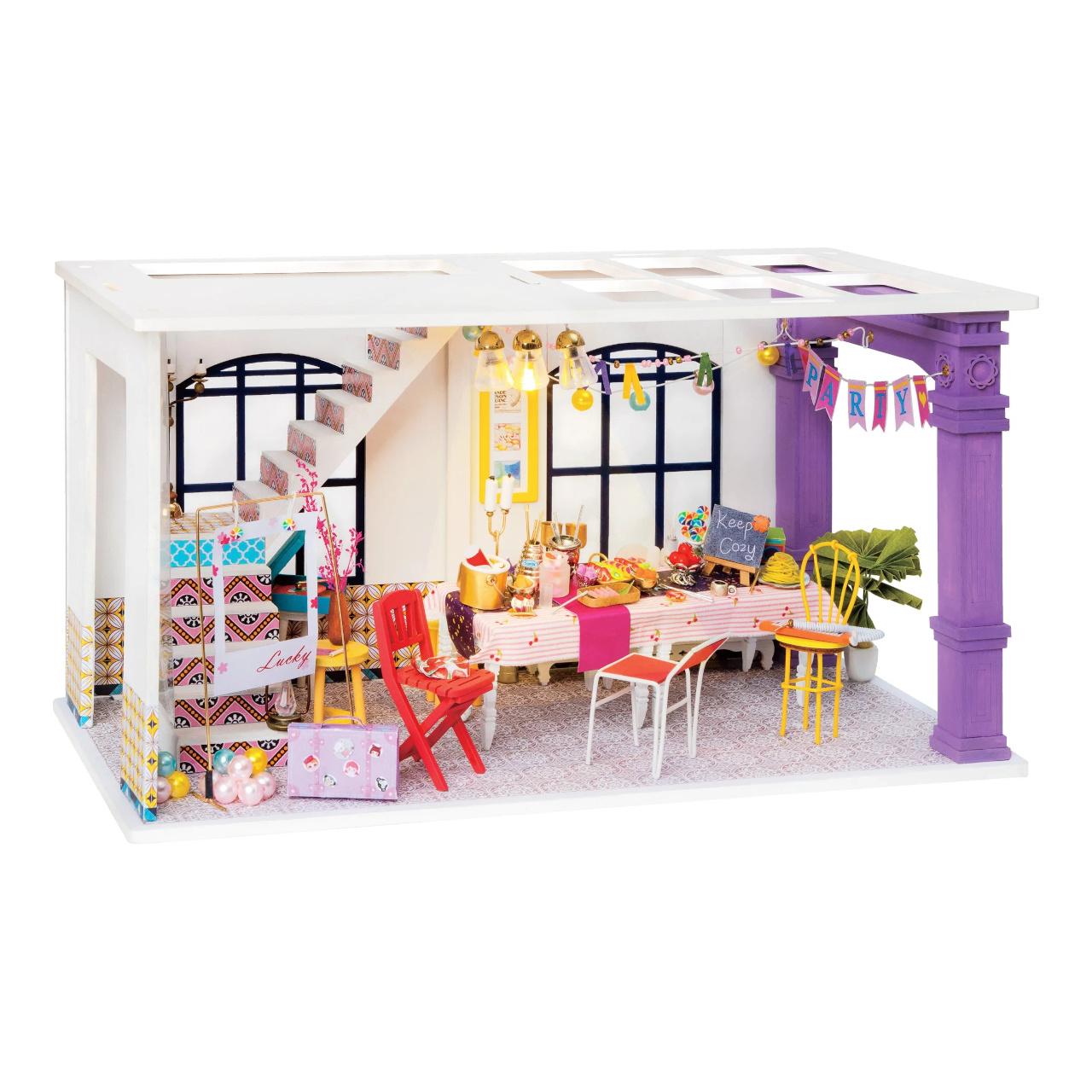 RoboTime miniatura domečku Podkrovní párty jídelna
