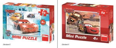 Mini puzzle - Disney pohádky 8 druhů
