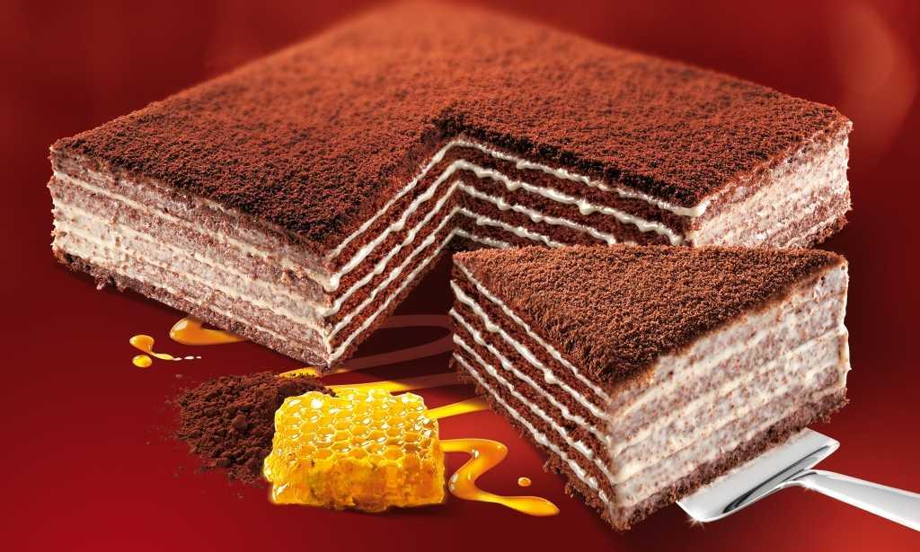 Medový dort Marlenka s kakaem