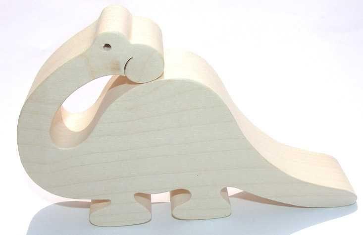 Fauna Dřevěná hračka Brontosaurus velký