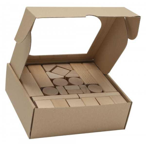Dřevěné kostky 50 ks