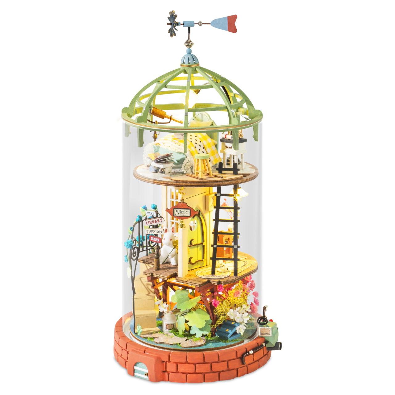 RoboTime miniatura domečku Skleněná věž malé čarodějky