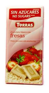 Torras Bílá čokoláda s jahodou 75g