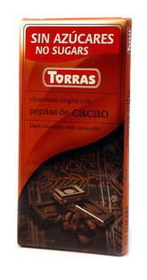 Torras Hořka čokoláda s kakaovými boby 75g