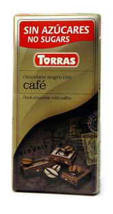 Torras Hořká čokoláda s kavou 75g