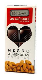 Torras Hořká čokoláda s mandlemi 150g