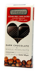 Torras Hořká čokoláda s lískovými ořechy 150g