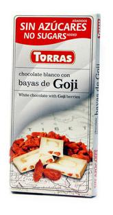 Torras Bíla Čokoláda s Goji 75g