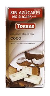 Torras Bílá čokoláda s kokosem 75g