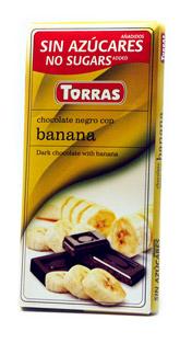 Torras Hořká čokoláda s banánem 75g