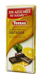 Torras Hořká čokoláda s pomerančem 75g