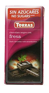 Torras Hořká čokoláda s jahodou 75g