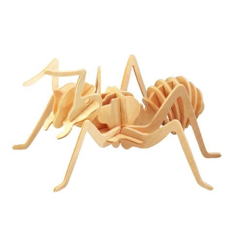 Woodcraft Dřevěné 3D puzzle skládačka mravenec