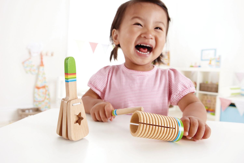 HAPE dřevěné hračky - dřevěný muzikální set