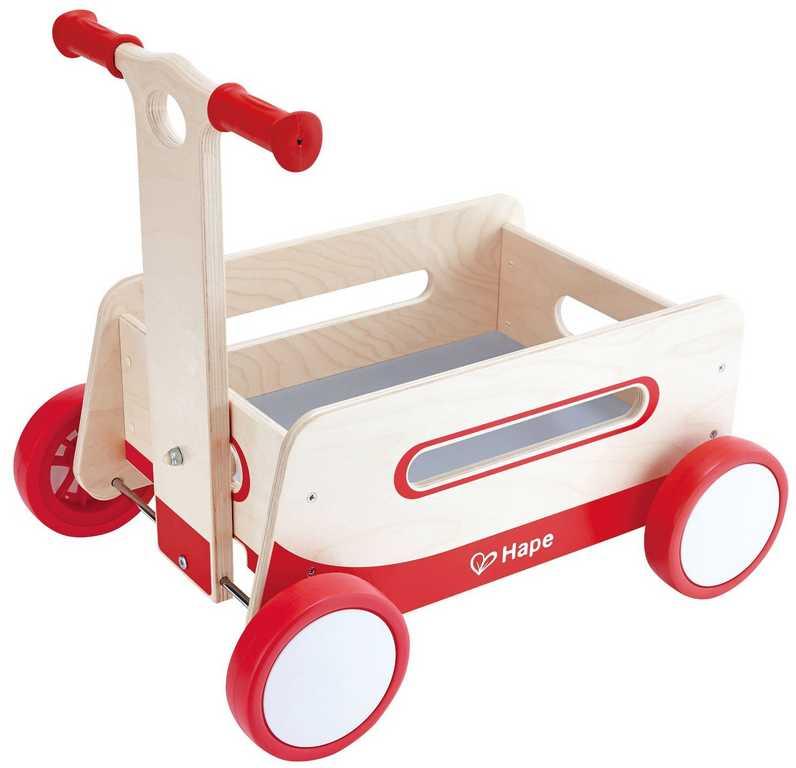 HAPE dřevěný vozík a chodítko v jednom