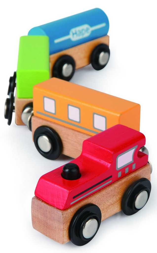 HAPE dřevěný vláček vláčkodráhy - Barevný vlak