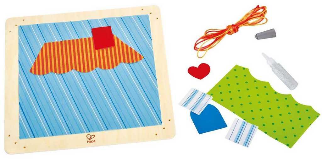 HAPE dřevěné hračky - dřevěná kreativní sada domeček