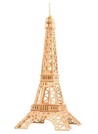 Woodcraft Dřevěné 3D puzzle slavné budovy Eiffelova věž