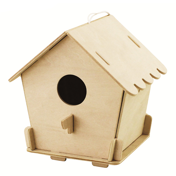 RoboTime dřevěné 3D puzzle Ptačí budka 3