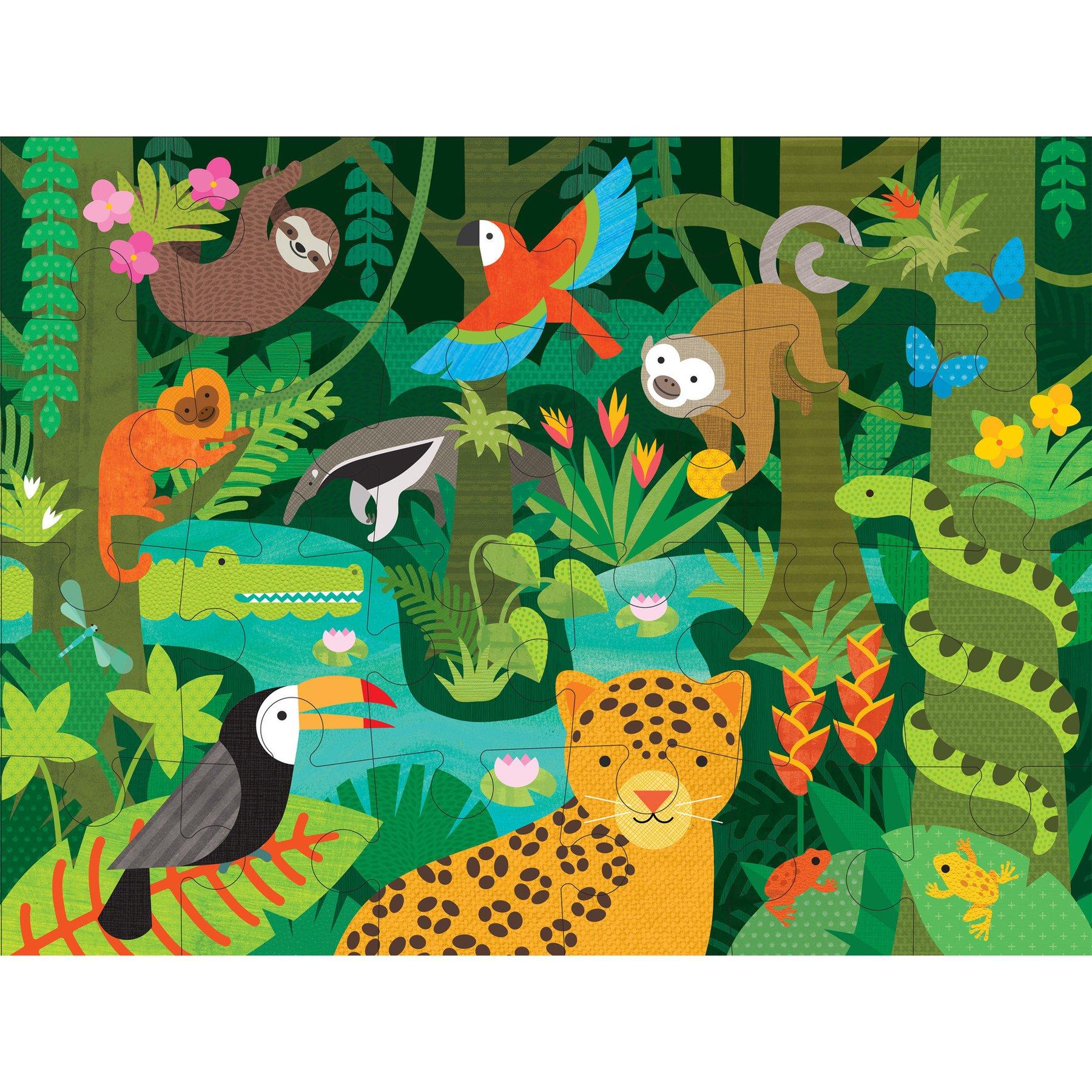 Petitcollage Podlahové puzzle deštný prales