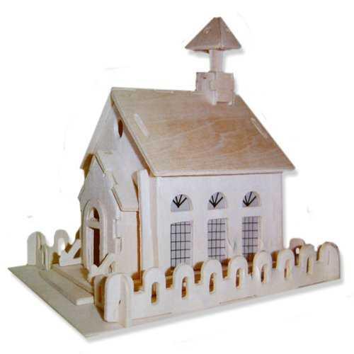 Woodcraft Dřevěné 3D puzzle kostel