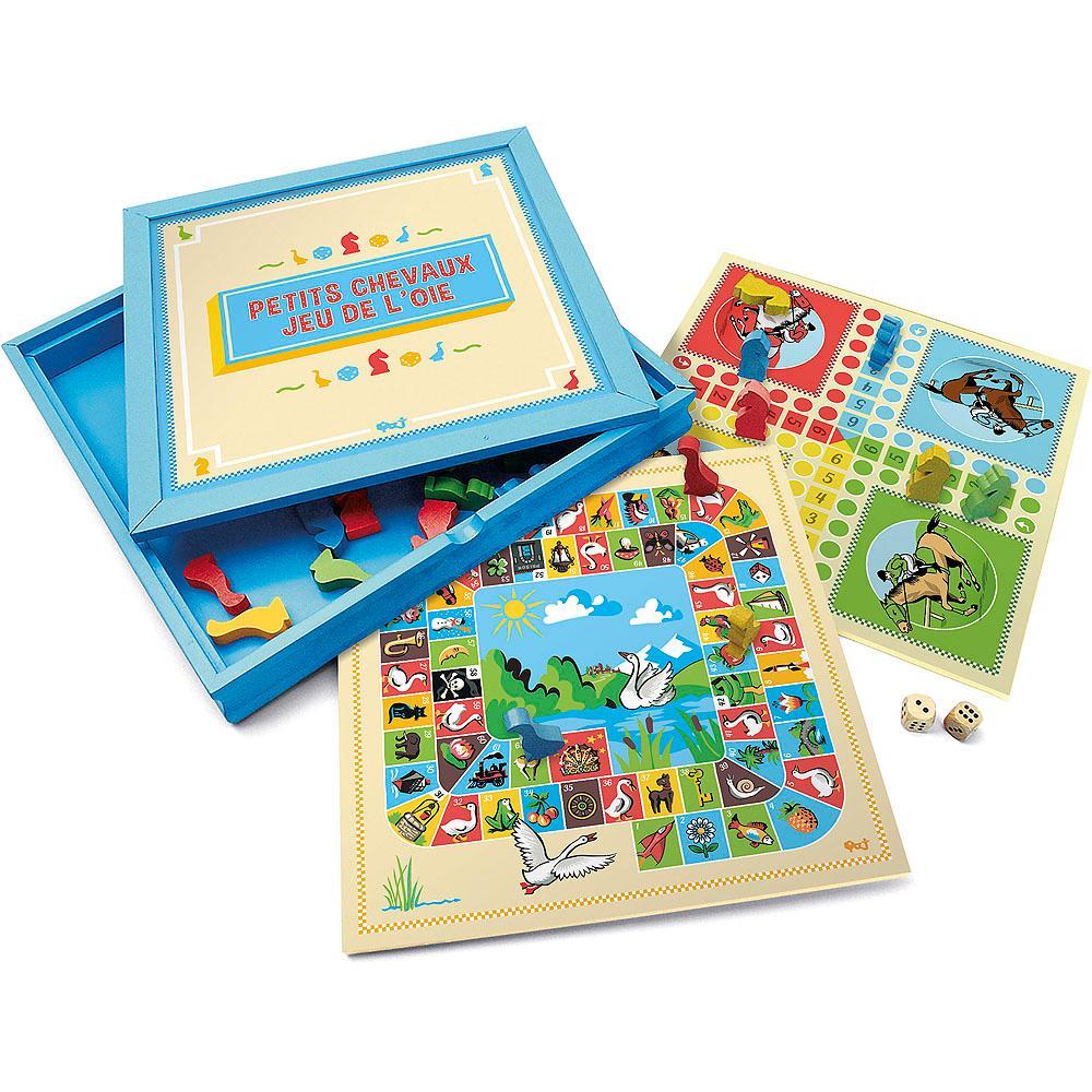 Jeujura Hry v dřevěném boxu 2v1