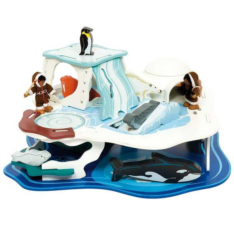 Bigjigs Toys Dřevěný ledovec - Polární dobrodružství