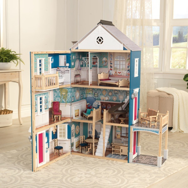 KidKraft Velkolepý domeček pro panenky modrý