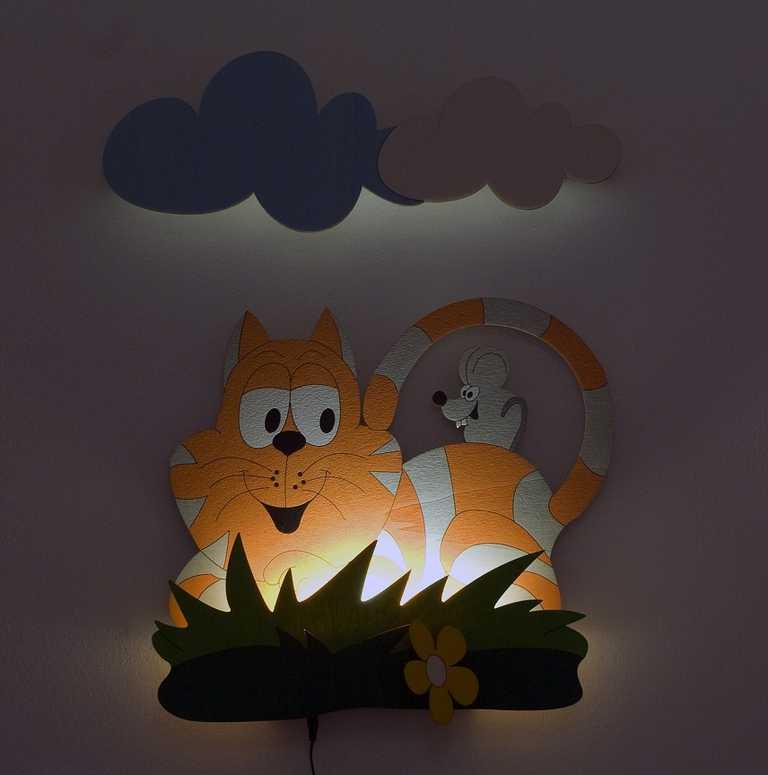 DoDo Dětská LED lampička kočka