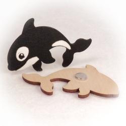 Dřevěné magnetky - Kosatka