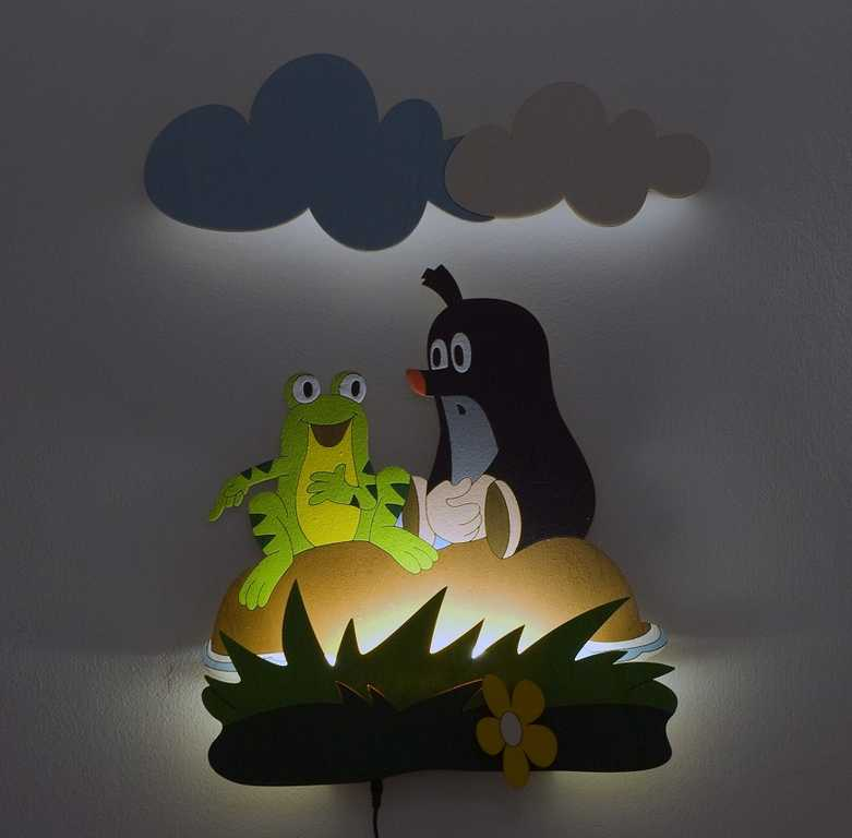 DoDo Dětská LED lampička krtek a žabka
