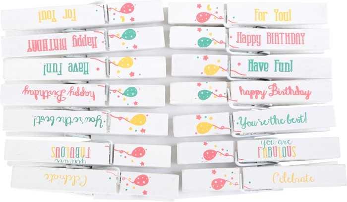 Dětské dřevěné narozeninové kolíčky