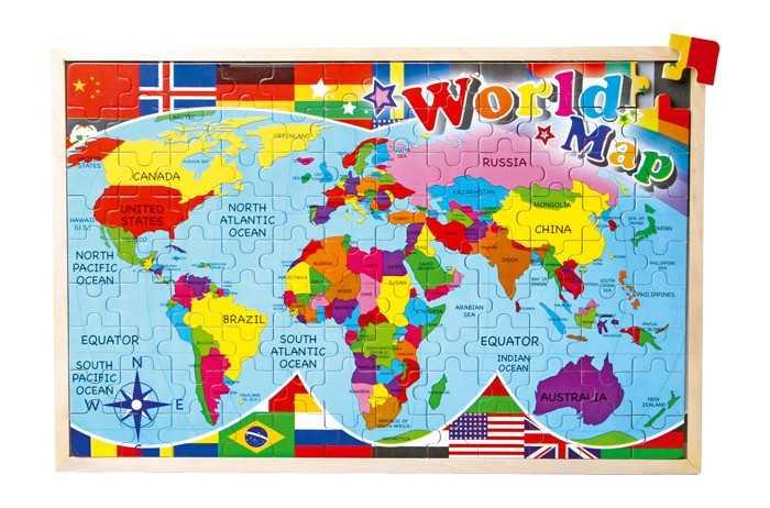 Small Foot Vkládací puzzle Puzzle mapa světa