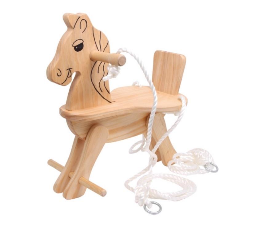 Dřevěná houpačka na zavěšení - Kůň