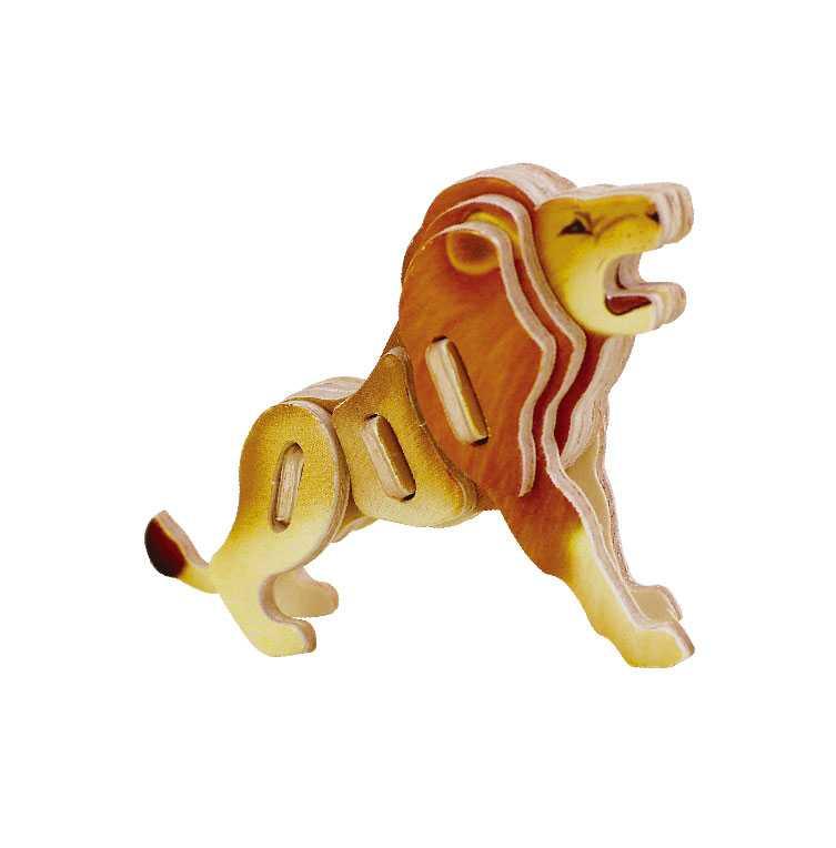 Dřevěné skládačky - sřední 3D puzzle - Lev