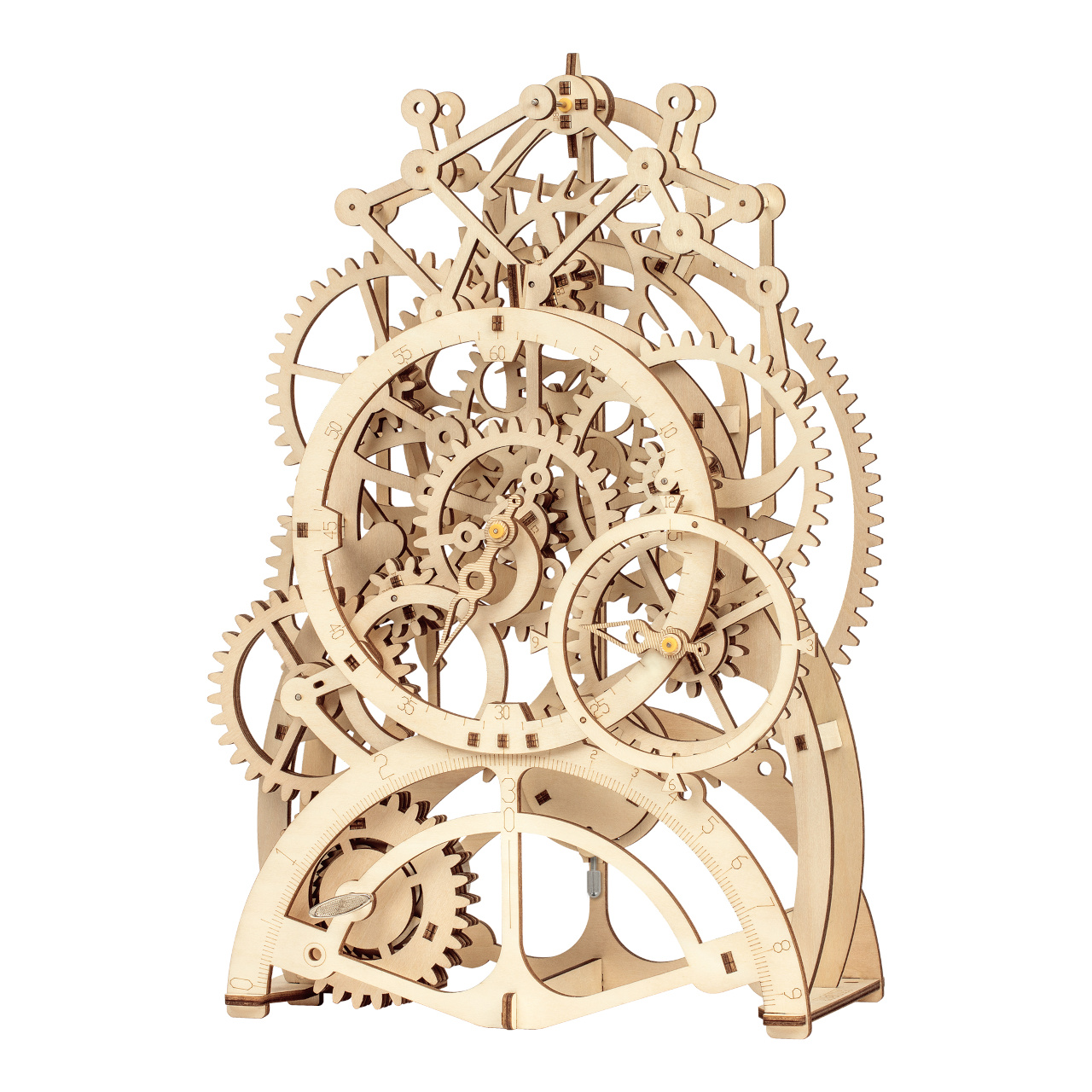 RoboTime 3D dřevěné mechanické puzzle Hodinový strojek